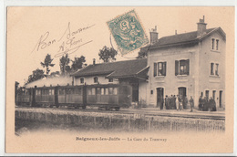 CPA- Baigneux-Les-Juifs - La Gare Du Tramway-1906-dép21- 2scans TBE - Autres Communes