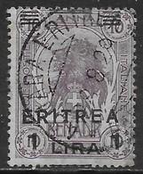 Italia Italy 1922 Colonie Eritrea Somalia Soprastampati L1 Su 10A Sa N.ERI60 US - Eritrea