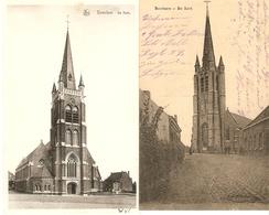 Beselare / Becelaere : Kerk --- 2 Kaarten - Zonnebeke