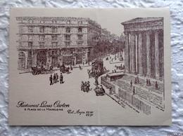 Menu  6/12/1967 - Diner Offert à La Presse Gastronomique - Champagne Pol Roger - Restaurant Lucas Carton Paris - Menus