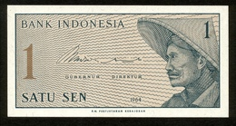 Indonesien 1964, 1 Sen - UNC, Kassenfrisch - Indonesien