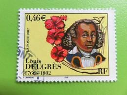 Timbre France YT 3491 - Bicentenaire De La Mort De Louis Delgrès - Portrait De L'officier - 2002 - France