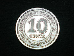 Monnaie, MALAYA,MALAISIE, 10 Cents, 1948, Copper-nickel, KM:8 - Malaysie