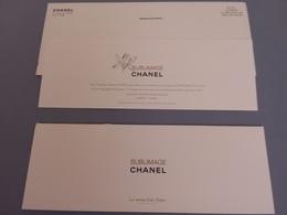 PUB POUR SUBLIMAGE CHANEL - Cartes Parfumées