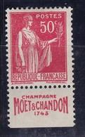 PUBLICITE: TYPE PAIX 50C ROUGE MOET ET CHANDON-1743 ACCP 862 NEUF* - Advertising
