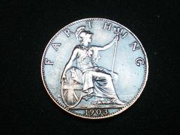 Monnaie, Grande-Bretagne, Edward VII, Farthing, 1903, TB+, Bronze, KM:792 - 1902-1971 : Monnaies Post-Victoriennes