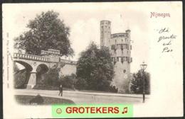NIJMEGEN Belvédère Met Eenzame Wandelaar 1901 Grootrondstempel Nijmegen 1 - Nijmegen