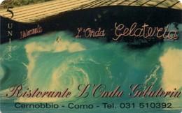 *ITALIA: GLOBAL ONE - RISTORANTE L'ONDA - CERNOBBIO (CO)* - Scheda NUOVA (MINT) - Italia