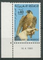 Marokko 1980 Falknerei Wanderfalke 929 Postfrisch - Maroc (1956-...)