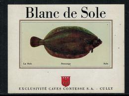 Rare // Etiquette De Vin // Poissons // Cully, Blanc De Sole - Poissons