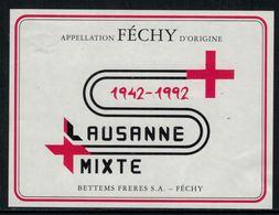 Rare // Etiquette De Vin // Samaritains // Féchy, Samaritains Lausanne-Mixte 1942-1992 - Etiquettes