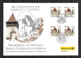 2011 Joint/Gemeinschaftsausgabe Germany Romania. OFFICIAL MIXED FDC 2+2 STAMPS: Biertan Church 2000 COPIES - Gezamelijke Uitgaven