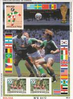 1990 Bolivia World Cup Football Germany Argentina  Souvenir Sheet  MNH - Bolivie