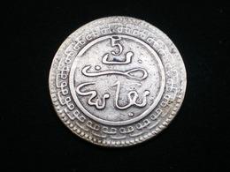 Maroc. 5 Mazunas (Mouzounas) HA 1320 (1902) FEZ. Abdul Aziz I. Frappe Médaille . Bronze. - Maroc