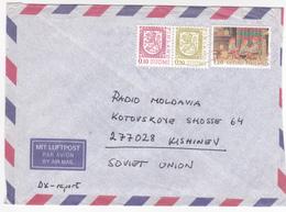 1993 , Finlande To Moldova   , Used Cover - Finland
