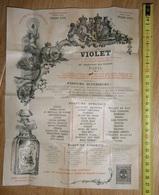 Très Rare Prospectus Gamme Savon Parfum VIOLET Paris Expo Universelle 1900 - A La Reine Des Abeilles - Extra Violette - France