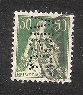 Perfin/perforé/lochung Switzerland No 103  1908-1933 - Hélvetie Assise Avec épée    VISC.   Schweiz. Viscose - Perforadas