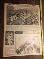 ANNEES 20/30 LES FUNERAILLES DE M MYRON T HERRICK A PARIS STATUE DE WASHINGTON TOURVILLE - Old Paper