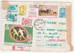 1972 , Roumanie To Moldova , Roumanie - USA , Final Tennis Coup Davis  , Used Pre-paid Envelope - 1948-.... Républiques