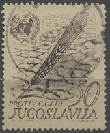 1963 - Yugoslavia - Wheat Ear - Against Starve UNITED NATIONS ONU UNO UN - Used - Contro La Fame
