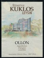 Rare // Etiquette De Vin // Architecture // Ollon, Réserve Du Kuklos à Leysin - Architecture