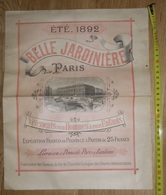Rare Catalogue été 1892 Magasin Belle Jardinière Paris Vêtements Pour Hommes Et Enfants XIXème - Textile & Vestimentaire