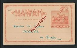 Entier Postal Hawaii. 1894. 2 Scans. - Hawaï