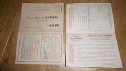 13 SALON - Carte Postale Publicitaire De 1916 à 2 Volets De La M. Aristide Bertrand Huilerie Moderne - Alimentos