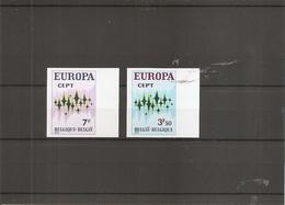 Belgique -- Europa 1972 ( 1623/1624 Non Dentelés) - Non Dentellati