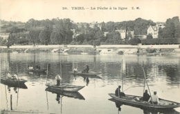 TRIEL SUR SEINE LA PECHE A LA LIGNE - Triel Sur Seine