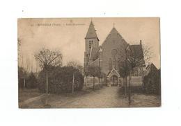 MOERBEKE (Waes).  -  Kerk, Kruisstraat. - Moerbeke-Waas