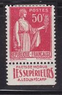 PUBLICITE: TYPE PAIX 50C ROUGE LEDUN FECAMP-filets De Morue Les Supérieurs ACCP 846 NEUF* - Advertising