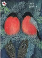 Bird - Oiseau - Vogel - Uccello - Pássaro - Pájaro - Bullfinch - Red Cross - Finland Post Posti Oy Ab - Postage Payed - Croix-Rouge
