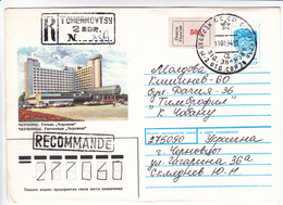 1992, Ukraine  To Moldova , Tchernovtsy , Local Stamp , Used Pre-paid Envelope - Ukraine