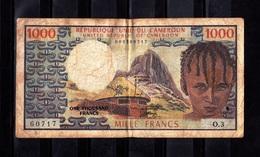 Cameroun,- 1000 Francs. Banque De Etats De L'Afrique Centrale. RECTO O3 - Camerun