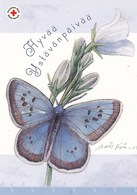 Butterfly - Papillon - Vlinder - Farfalla - Borboleta - Mariposa - Red Cross - Finnish Post Itella Oyj - Postage Payed - Croix-Rouge