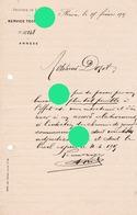 FLERON 1915 Service Technique Provincial Vers Dozot  Cerexhe Heuseux - Belgique
