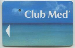 """Specimen De Carte D'Hôtel """"Club Med"""" Club Méditerranée (annulée Par Perforation) Room Key - Club De Vacances - Cartes D'hotel"""