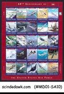 MARSHALL ISLANDS 2007 60th ANNIVERSARY OF U.S. AIR FORCE / AVIATION MIN/SHT MNH - Marshall