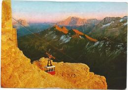 V3702 Funivia Di Sass Pordoi (Trento) - Panorama Con Vista Di Cima Civetta / Viaggiata 1965 - Italia