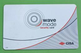 """Carte D'Hôtel """"Hôtel Icone"""" Wave Mode Security Card - Room Key - Hotel Keycards"""