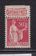 PUBLICITE: TYPE PAIX 50C ROUGE LE PRUDHOMMEcapitaux Prêts ACCP 900* - Advertising