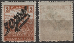 1919 Romania Occupation Temesvár Timisoara Transylvania - Hungary - HARVESTER Overprint - MH - Transylvanie