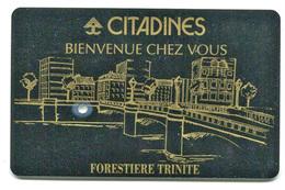 """Specimen Ou Essai De Carte D'hôtel Forestière Trinité"""" à Nanterre - Room Key (annulée) """"Citadines"""" Oberthur - Hotel Keycards"""
