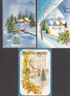 97462/ NOUVEL AN, 3 Cartes, Paysages - Anno Nuovo