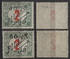 BLACK Number 10 -1919 Romania Occupation Temesvár Timisoara Transylvania Serbia Hungary - Porto DUE Overprint - MH - Transylvanie