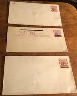 Mauritius (Maurice) 2 Cents Overprint Postcard, 36 Cents & 4 Cents Overprint Postal Stationary Envelopes - Mauritius (...-1967)