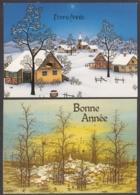 97472/ NOUVEL AN, 2 Cartes, Paysages Habités - Anno Nuovo