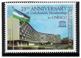 Uzbekistan.2018 Membership In UNESCO - 25y(Buildings,Flags). 1v: 5800 - Ouzbékistan