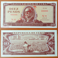 Cuba 10 Pesos 1968 UNC Specimen - Cuba